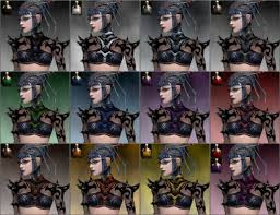 Guild Wars Dye Chart Necromancer Obsidian Armor Female Guildwiki The