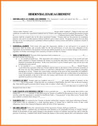 Collection Of Printable Residential Lease Agreement Free 36 Images