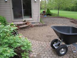 homeowner elects to replace old brick pavers if total rebuilding of patio is required