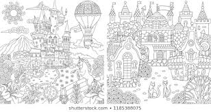 Coloring Page Fantasy Stock Vectors Images Vector Art Shutterstock