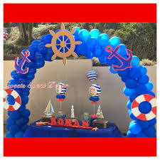 Nautical Theme Balloon Decoration By Sweets Event Decor
