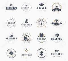 Vintage Logo Vector Vintage Logos Design Templates Set Vector Design Elements Logo