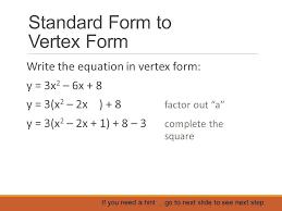 vertex form math change vertex form to standard form co vertex form calculator math papa
