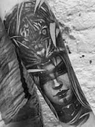 Tetovani Realisticke Cernobile Indianka Tygr Black House Tattoo