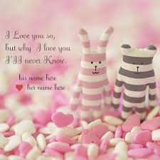 Lovely Love Quotes Images With Couple Name Pic Download I Love You Beauteous Love Pics With Name Edit