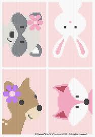 Crochet Patterns Woodland Animal Friends Baby Girl Graph
