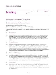 50 Professional Witness Statement Forms Templates