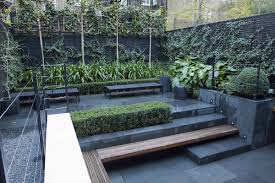Lawn & Garden:Unusual Small Gardens Design Ideas With L Shape Pallet Wooden  Seat And