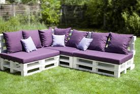 pallet furniture. outdoor shipping pallet furniture ideas backyard patio bench colorful cushion v
