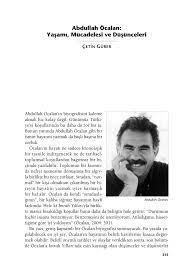 PDF) Abdullah Öcalan: Yaşamı, Düşüncesi ve Düşünceleri