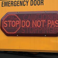 driver alert school bus warning caution safety light