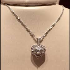 pretentious idea zales jewelry necklaces 70 off sterling silver and diamond heart jewelers infinity necklace 3 hearts 0