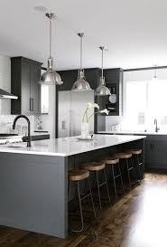 gray kitchen cabinets and walls. colorful kitchen faucet collections industrial hanging pendant overhang grey island with white marble tops round hardwood bar stool black wall mount gray cabinets and walls