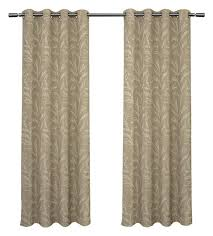 kilberry blackout grommet top curtain panels set of 2 natural