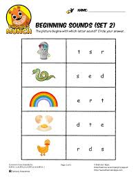 Working on the pages is fun and really enjoyable.besides fun , this workbook is educational in true sense, as my kid now confidently tells the each letter of a word just hearing the sound of each letter of a. Beginning Sounds Phonics Worksheet