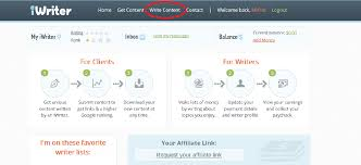 earn online by writing articles on iwriter dashboard