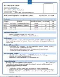 Best Resume Format For Freshers Pdf Niveresume Pinterest