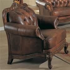 Living Room Sofas And Loveseats Formal Leather Sofa Amp 2 Chairs 3pc Traditional Luxury Living