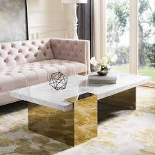 Vasagle round side table, tempered glass end table with golden metal frame, small coffee table, bedside table, living room, balcony, robust and stable, decorative, gold ulgt20g. Marble And Gold Coffee Table Ideas On Foter