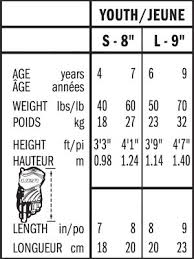 Bauer Hockey Gloves Size Chart Bauer Sh Hockey Gloves Junior