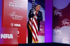 President Donald Trump speaks at CPAC 2019