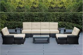 outdoor patio wicker furniture luxury seating set with sunbrella cushions to enlarge