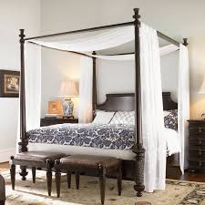 Bedroom Light Blue Bed Canopy White Canopy Bed Set Fabric Canopy ...