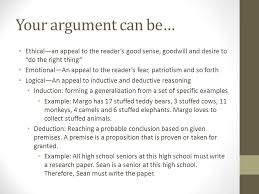 intro to argumentative essays what is argument all writing is your argument can be ethical an appeal to the reader s good sense goodwill