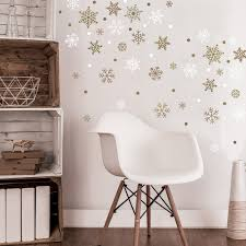 home what s new gold snowflake wall decals