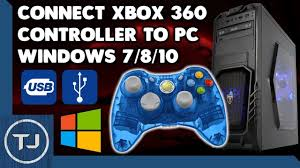 connect wired xbox 360 controller to pc windows 7 8 10 drivers