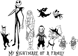 Nightmare Before Christmas Coloring Pages Printable Littledelhisfus
