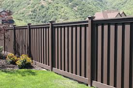 vinyl fence panels home depot. Woodland Brown Wood-Plastic Composite Board-On-Board Privacy Fence Panel Kit Vinyl Panels Home Depot N