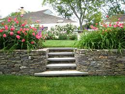 garden landscape design. Interesting Design For Kid Backyard Landscape : Stunning Ideas With Stone Garden