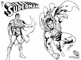 Due Disegni Da Colorare Di Superman
