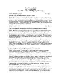 Address Format On Resume Dave Dietz Resume address removed 20