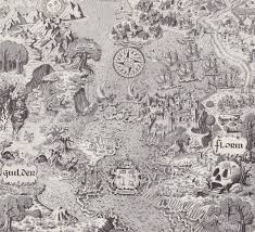 scanned from an old book of fantasy maps a map of the world of the princess bride