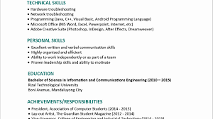 Best Student Resume Format Best Student Resume Format Sample For Fresh Graduates Two Page 22