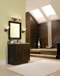 stylish bathroom lighting. framed wall mirror and pretty bathroom lighting idea plus modern skylights feat wooden accent stylish i
