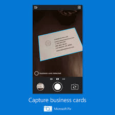 microsoft business card microsoft pix can scan business cards to your contacts find people