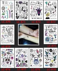 Lc 87710 видов стилей модные геометрический временные татуировки
