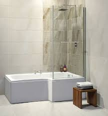 trojan elite 1675 x 850 x 700mm l shape square shower bath rh