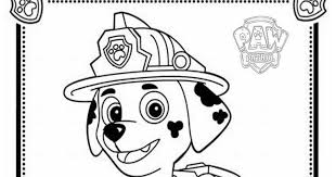 Small Picture mewarnai coloring Paw Patrol Coloring Pages Marshall Paw