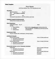 College Admission Resume Template Magnificent College Application Resume Template Httpwwwresumecareer