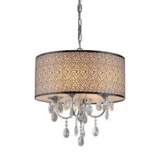 whse of tiffany rl13224 lush crystal chandelier drum shades clip on grey with crystals large shade
