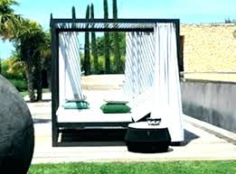 Patio Bed With Canopy Patio Bed With Py Outdoor Daybed Cushions ...