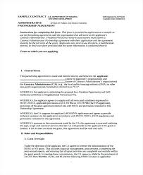 Sample Partnership Agreement Form Business Agreement Form Template Partnership Agreement