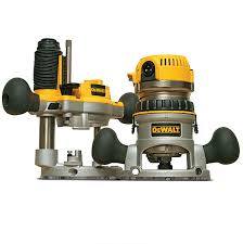 dewalt router. compact size: a squat motor makes this router hug the worksurface, bonus for edgeprofiling and hinge-mortising. dewalt
