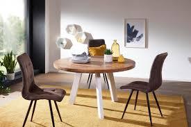 Finebuy Esszimmertisch ø 130 Cm Sheesham Holztisch Massiv Küchentisch Tisch