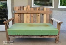 outdoor patio benches wooden pallet wood patio chair build via funky junk interiors home ideas diy