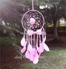 Dream Catchers Where To Buy Artistic 100 New fashion gift Hot pink Dreamcatcher Wind Chimes 60
